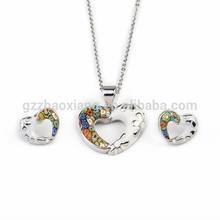 ERJS0075 murano glass eternal love bridal jewelry set