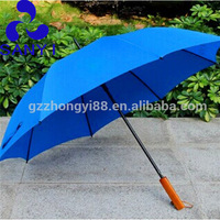 Brand promotion price Automatic Fancy wooden wooden hand umbrella