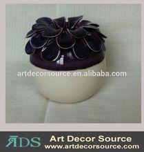 Purple Ceramic Ball Vase