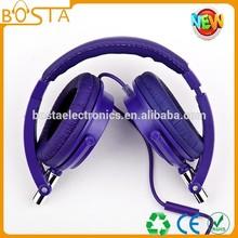 A lot of headphones purple big cool earmuff fashion style mobile mp3 earphone