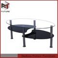 plateau en verre en acier inoxydable base de table à café