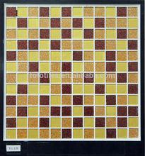 Cracked crystal glass mosaic tile bathroom design