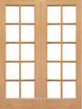 Doble de madera de entrada puertas francesas