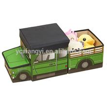 car shape foldable storage stool/toy storage box