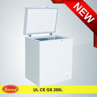 70L-200L Single small portable top open door chest deep freezer price