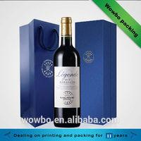 Top grade cardboard luxury wine bag custom cardboard wine bag