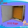 2112 ovos ce aprovado alta taxa de eclosão automátic grande ovo de galinha incubadora máquina