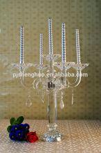 beautiful crystal candleholders wedding decor piece