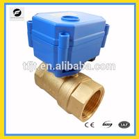 miniature 12v 24v brass 1/2'' and 3/4'' 1'' motor control motorized ball valve for irrigation system