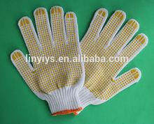 7 gauge cheap price high quality PVC dotted cotton gloves/PVC dots