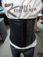 Latex rubber girdles