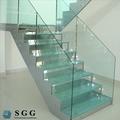 planas y curvas de flexión de vidrio templado para balcón barandilla de la escalera de la piscina y panel de la cerca