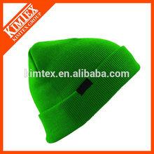Knit acrylic custom bobble hat