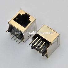 CAT6 RJ45 PCB socket 8P modular shielded jack