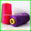 la bobina de plástico de poliéster hilo de coser