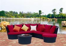2014 durable use garden furniture rattan patio furniture black wicker Rattan sofa