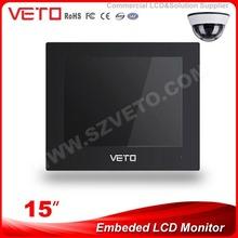 "VETO 15"" BNC/AV/VGA/HDMI/YPbPr/CVBS embedded DC/AC Powered LCD monitor VT-M1500E"