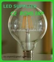 2014 Newest Design CE RoHS E27 Led 6W. Glass Cover LED Bulb