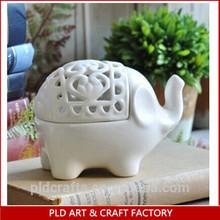 Supporto di candela di ceramica cinese, elefante supporto di candela