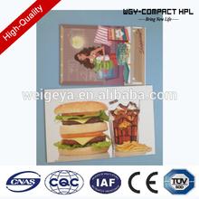 WGY 2mm hpl Custom design hot plate/hpl plate/hpl laminate /formica sheet