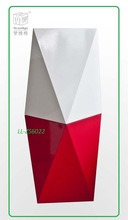 Glossy Paint Diamond MDF Display Stand Foot Stool