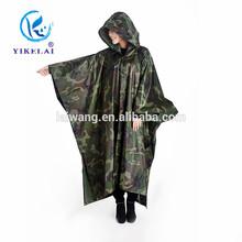 Practical square raincoat / military raincoat / raincoat with hat