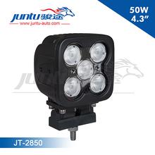 "Automobile 4.3"" 50W led light car 12v dc/waterproof IP67/high intensity CREE 50w led/12v Led Work Light/Aluminum work light"