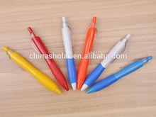 School stationery rubber grip ball pen