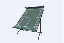 Slope tennis practice net