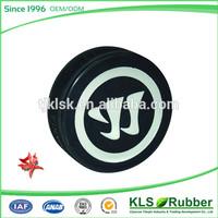 Popular custom logo rubber ice hockey puck