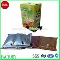 1l a 220l frutas suco de embalagem( saco de bebida na caixa)