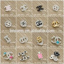 2014 fashional famous brand Luxury 3D alloy metal Nail Art decoration