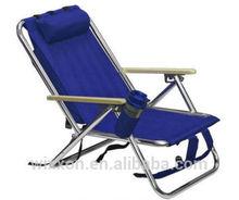 Hot Selling 3 Positions Reclining Aluminium Folding Beach Chair