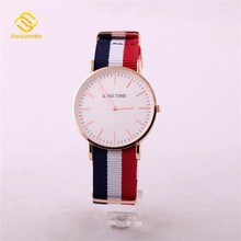 Japanese movement 30meters Water-resistant Nylon wrist watch strap Custom Nylon Watch