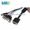 Venta al por mayor 5 ports bnc de extremo a extremo convertidor de vídeo vga cable