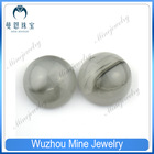 round shape flat back cabochon opaque glass beads