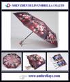 Automática tecido estampado guarda-chuva 2014 itens engraçado lembranças