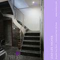 personalizado de acero estructura de madera de las escaleras interiores de diseño