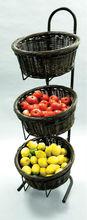 supermarket grocery store fruit vegetable metal display rack