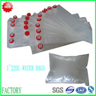 Aluminum foil carton packaging drinking water in plastic bag