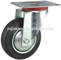 Industrial swivel rubber 150mm trolley wheel
