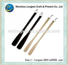 custom long wooden shoehorn/wooden shoe horn/long shoe horn