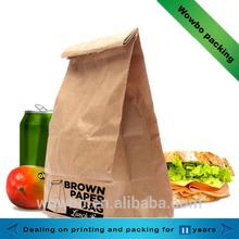 Cheap brown kraft paper food bag wholesale