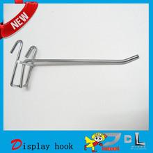 Single display metal hook, in supermarkets metal hook