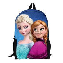 Disny audit kids Anna Elsa frozen bag, frozen school backpack