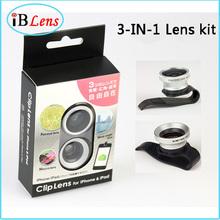 Universal Clip 3 in 1 camera lens kit for smartphone