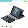 Premium hot press PU wireless bluetooth keyboard with 3 folders for iPad mini