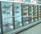 Upright freezer glass door with aluminium frame for supermarket