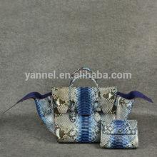 python leather lady handbag_brand name python bag_exotic skin handbag