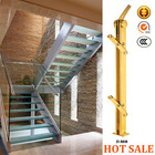 stair glass railing prices/modern stainless steel stair railing designs/wood deck railing A010